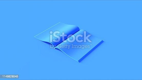 istock Blue Open Magazine 1149828045