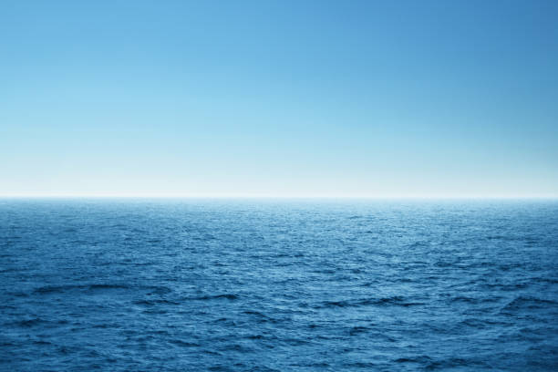 blue open sea. environment,travel and nature concept. - sea imagens e fotografias de stock