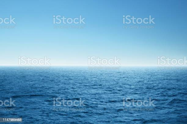 Photo of Blue open sea. Environment,travel and nature concept.