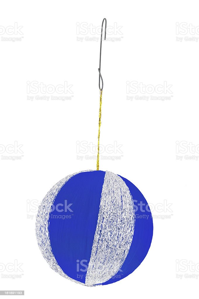 blue ornament with silver stock photo