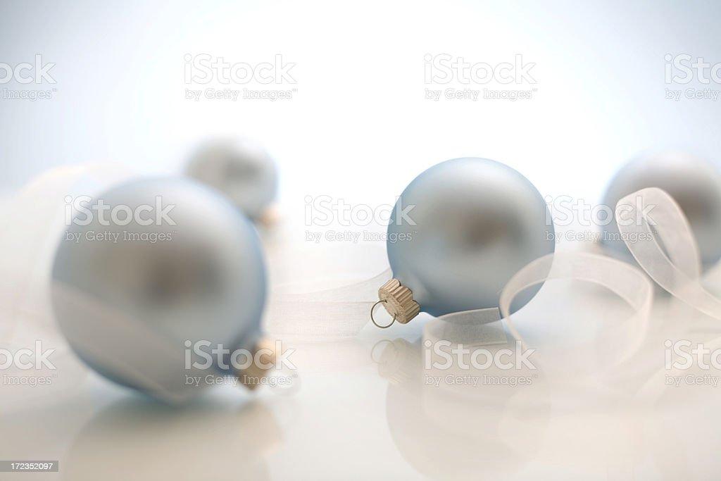 blue ornaments royalty-free stock photo