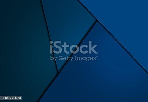 1126531335 istock photo Blue overlap background 1187779070