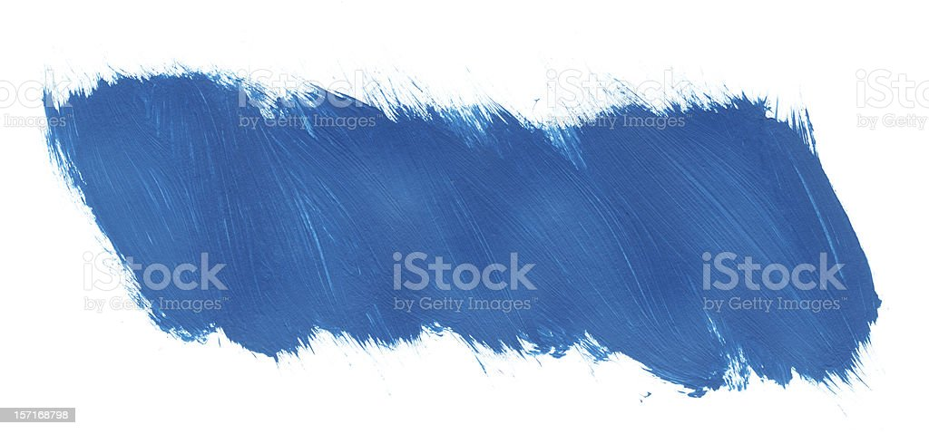 Blue Paint in a Fast Brush Stroke royalty-free stock photo