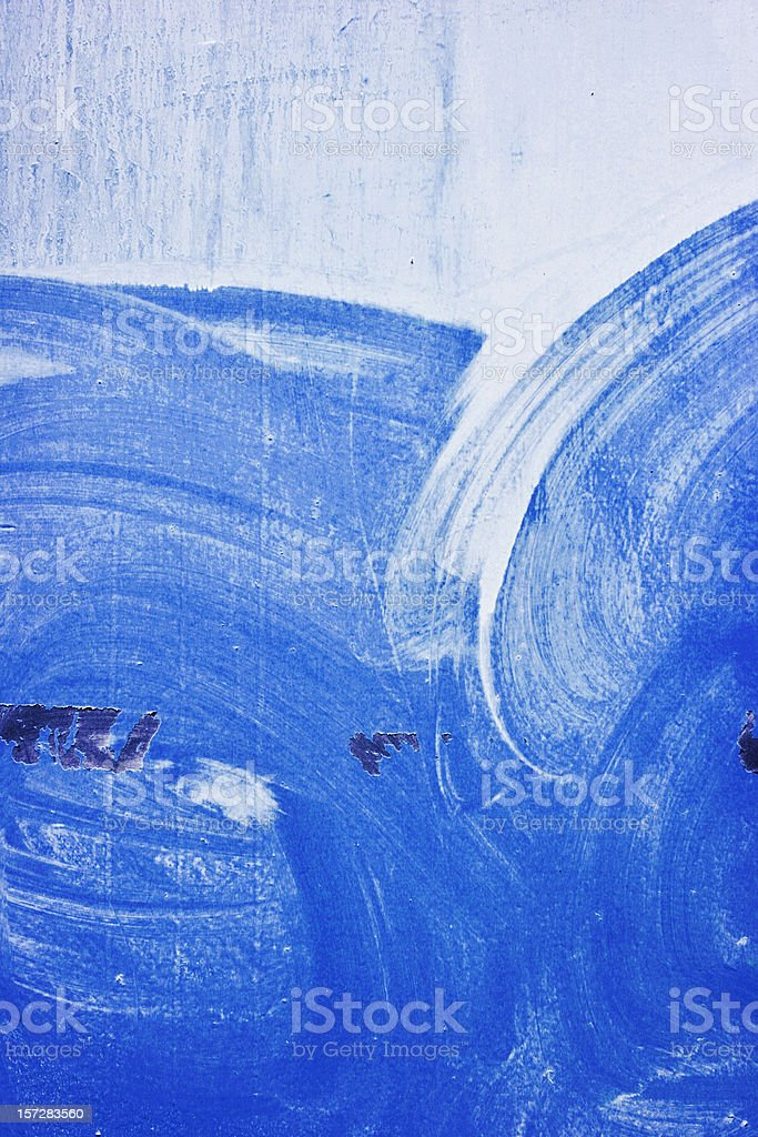 Blue Paint Layer royalty-free stock photo