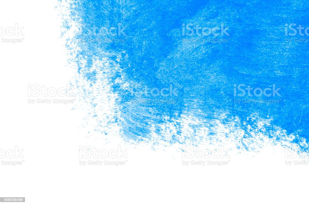 Blue paint on a white background stock photo