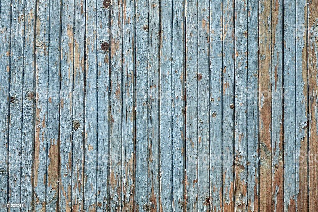 Blue Paint Peeling Wooden Texture royalty-free stock photo