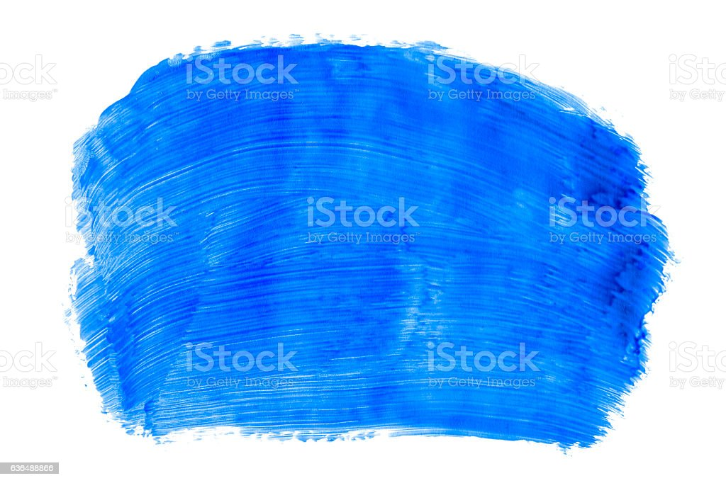 Blue paint (isolated on white) stock photo