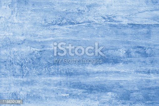 istock Blue paint stains on canvas. Illustration with Blue blots on bright background. Abstract pattern of watercolor. Creative artistic backdrop. Blue color texture for graphic design. Template with gradient of mockup. 1155201391