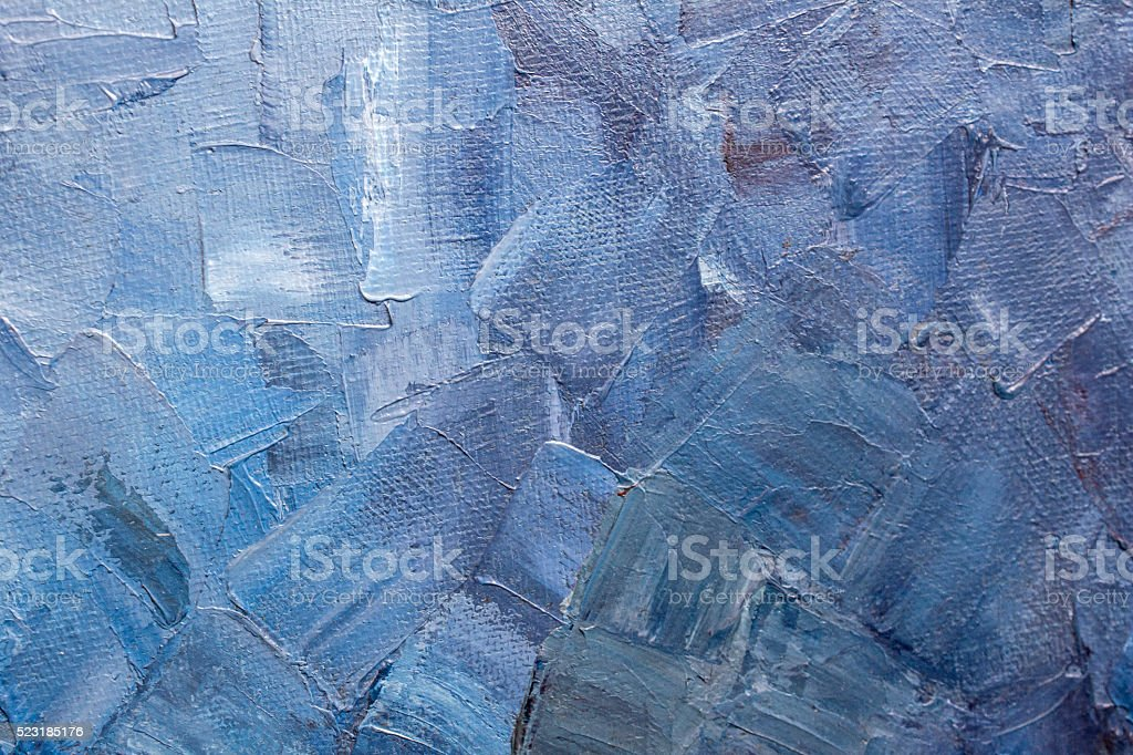 Blue paint texture on a canvas stock photo