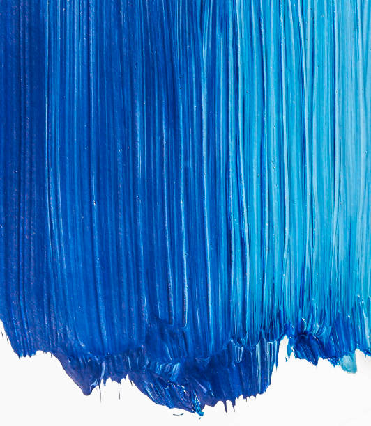 Blue paint textured background stock photo