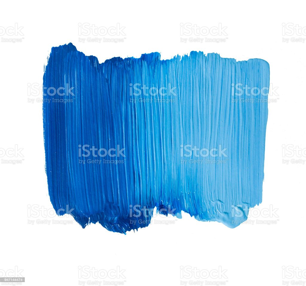 Blue Painted Banner Acrylic Background Stock Photo - Download Image