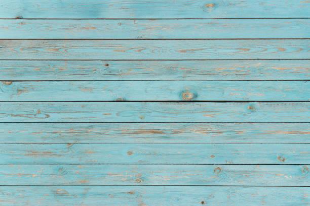 bleu des planches de bois peintes, fond, texture - turquoise bleu photos et images de collection