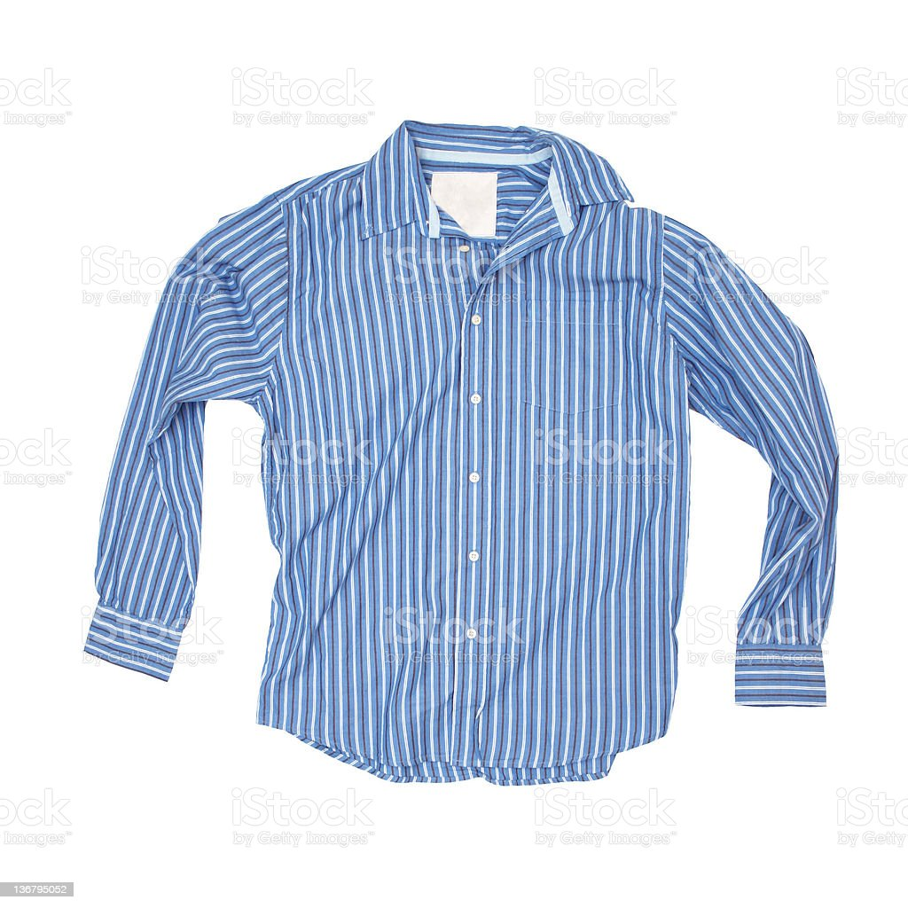 Blue Pajama-Top on a White Background royalty-free stock photo