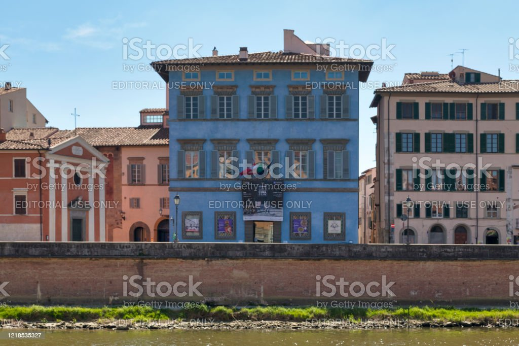 Palazzo Blu in Pisa - Royalty-free Ancient Stock Photo