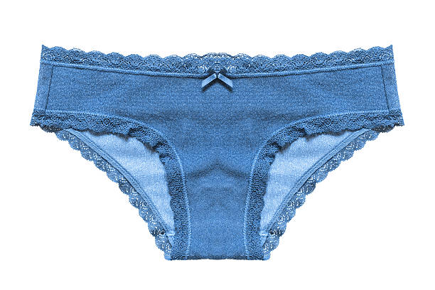 Blue panty isolated Blue cotton panty on white background panties stock pictures, royalty-free photos & images