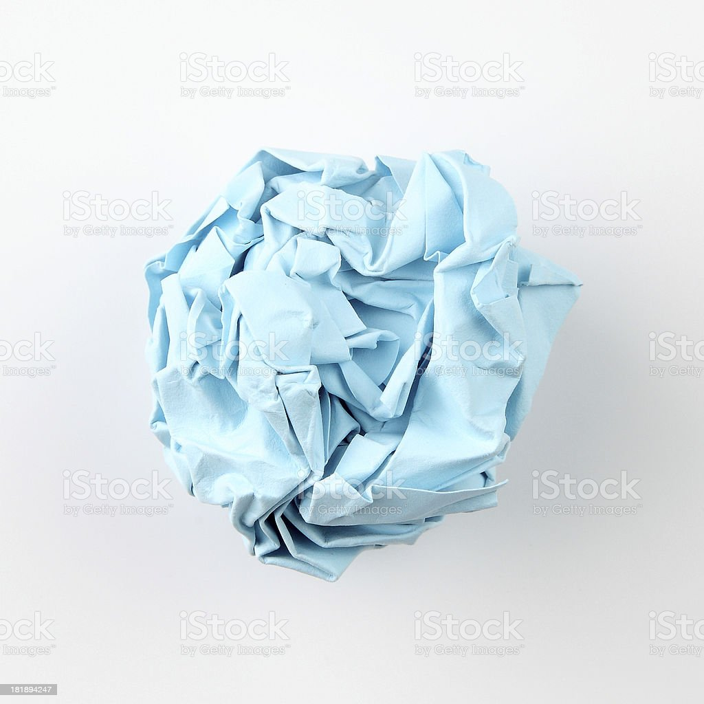 blue Paper Ball royalty-free stock photo