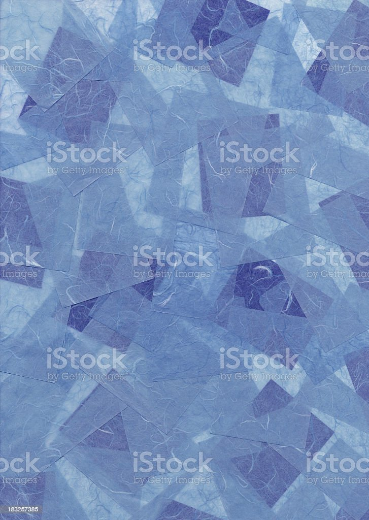 Blue Paper Collage Background royalty-free stock photo