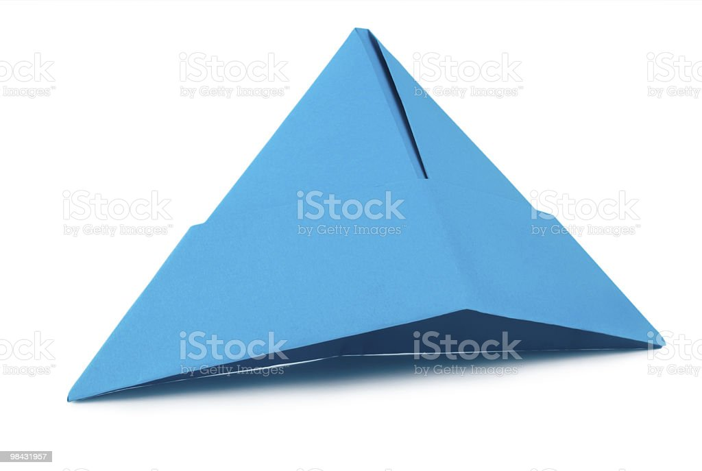 Blue paper hat royalty-free stock photo