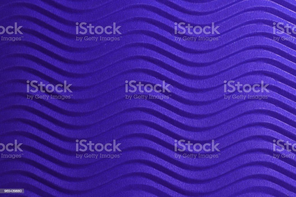 Blue Paper Horizontal Waves Texture. Embossed Waves on Detailed Paper Background. Corrugated Wavy Cardboard Backdrop. royalty-free stock photo