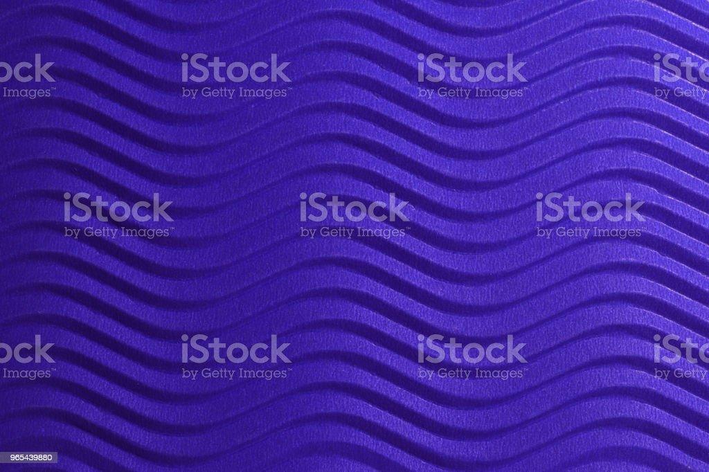 Blaues Papier horizontalen Wellen Textur. Geprägte Wellen auf detaillierte Papierhintergrund. Wellpappe gewellten Karton Hintergrund. - Lizenzfrei Abstrakt Stock-Foto