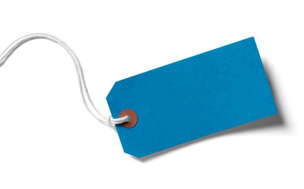 Blue Paper Label stock photo