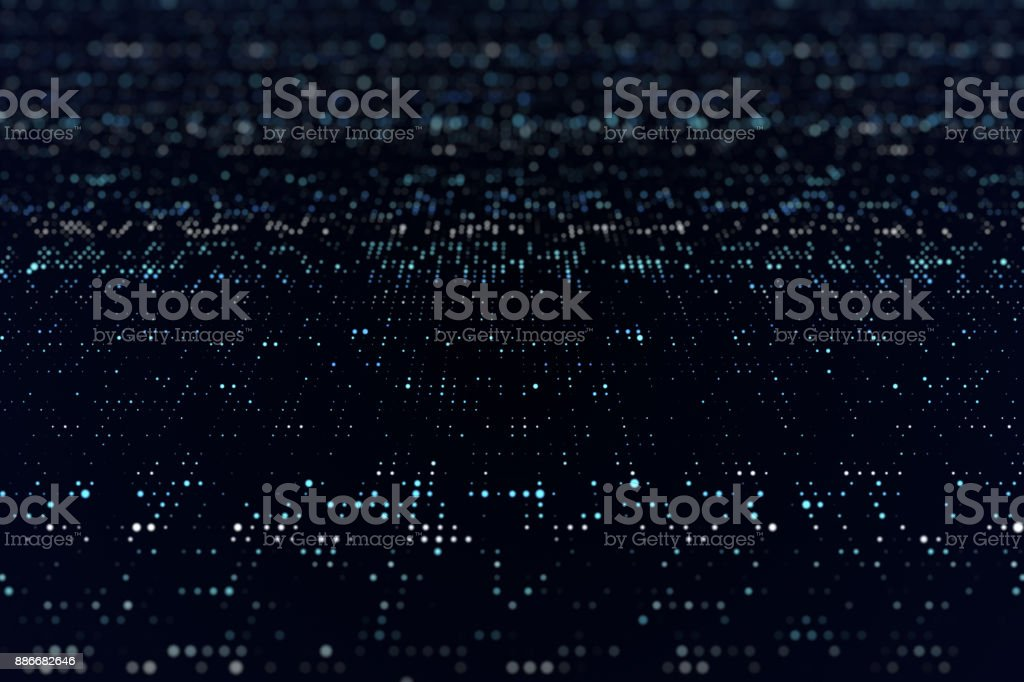 Blue Particles, Particle Background stock photo