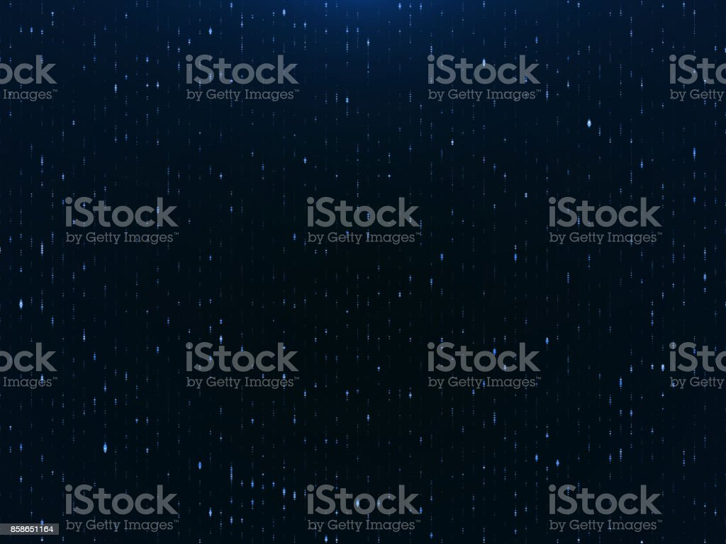 Blue Particles, Particle Background- Stock image stock photo