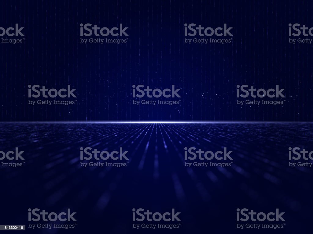 Blue Particles, Particles Background - Stock image stock photo
