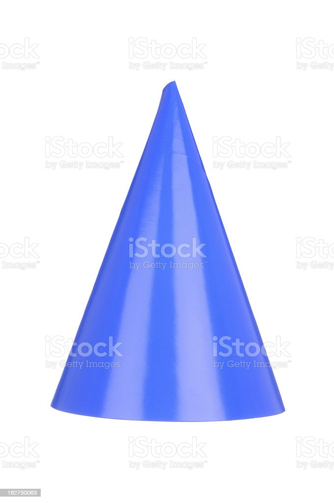 Blue Party Hat royalty-free stock photo