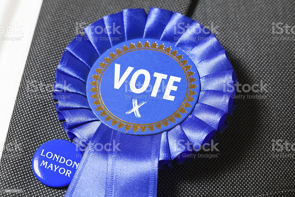 Blue Party Vote stock photo