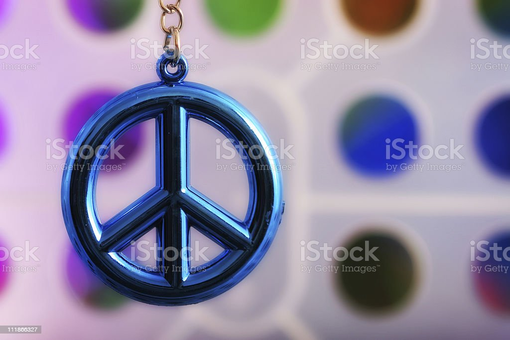 Blue Peace stock photo