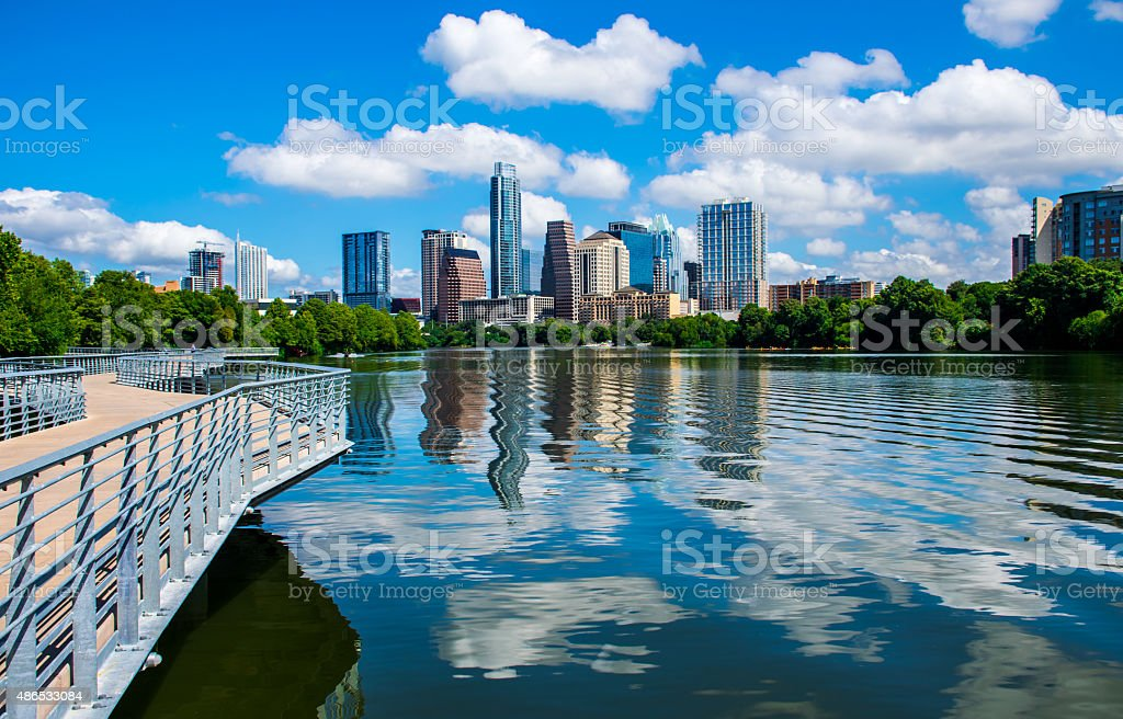 Blue Pearl Austin Texas Central Hill Country Capital City 2015 stock photo