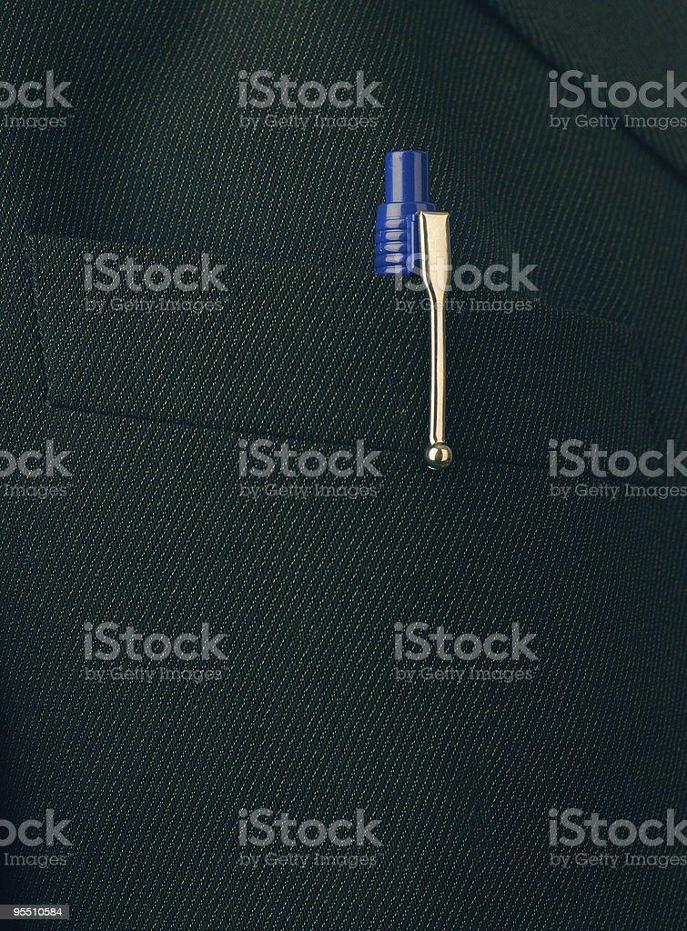 blue pen in pocket royalty-free stock photo