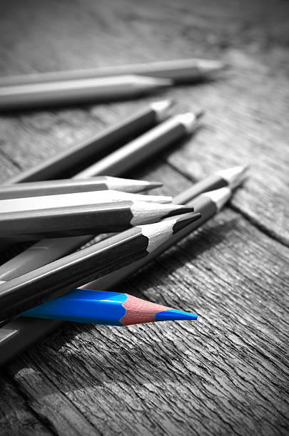 Blue Pencil Crayon - Photo