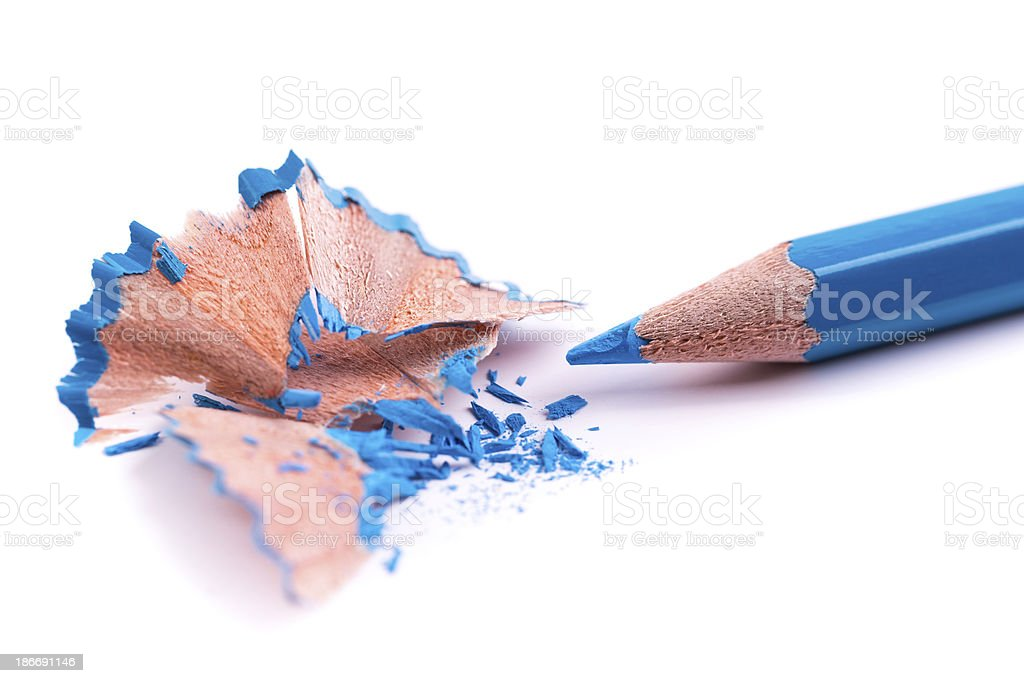 blue pencil royalty-free stock photo
