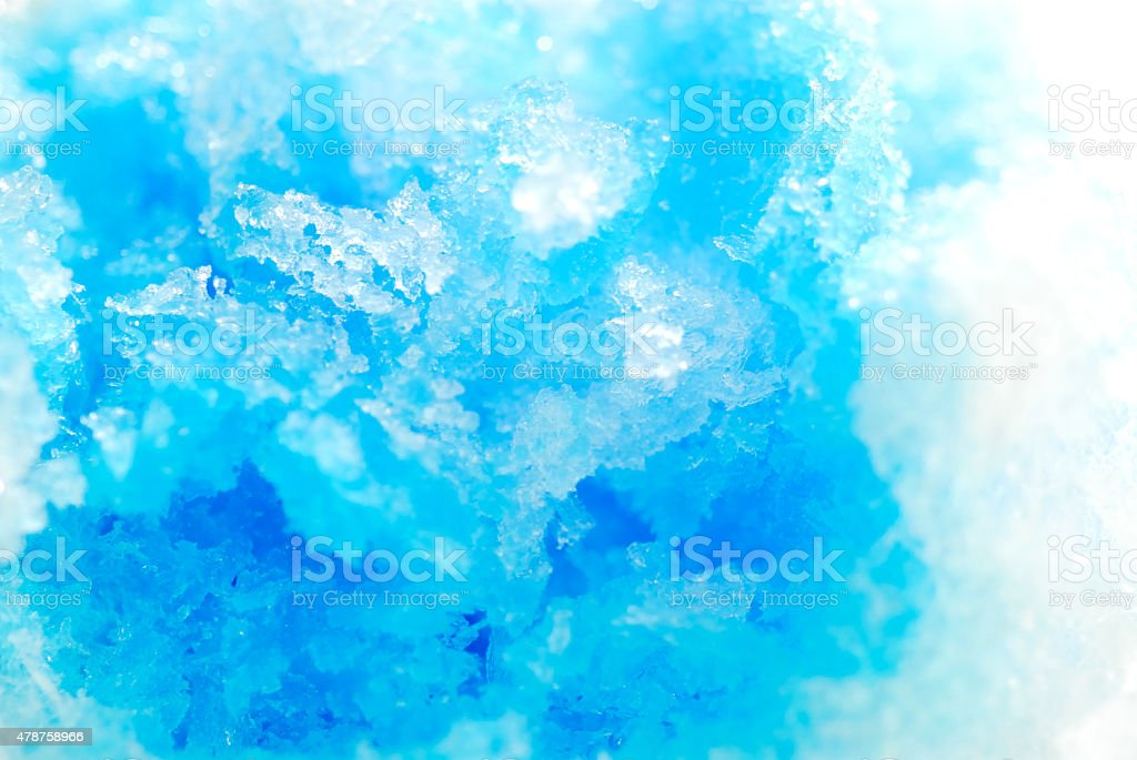 Blue persimmon ice. stock photo