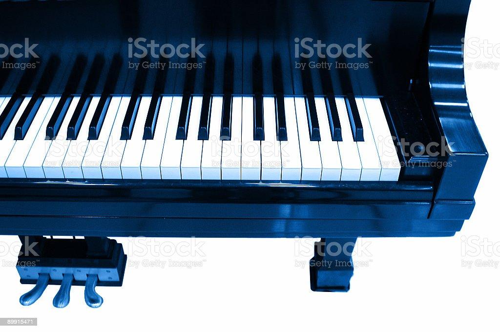 blue piano royalty-free stock photo