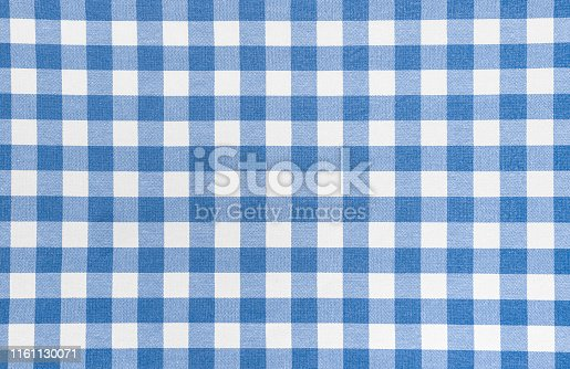 Blue picnic cloth - background