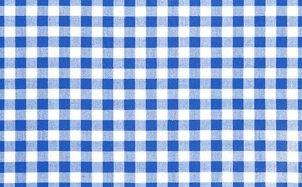 Blue picnic cloth background. Blue picnic cloth pattern wallpaper background.Kitchen menu backdrop.Retro fabric surface transparent. plaid stock pictures, royalty-free photos & images