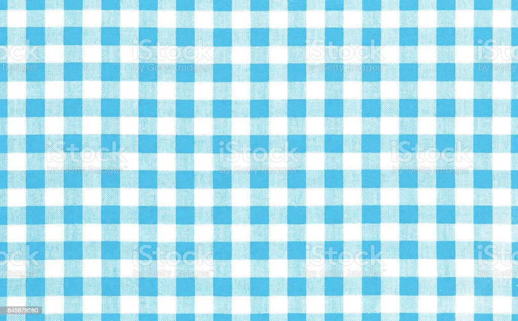 Blue picnic cloth background. stock photo