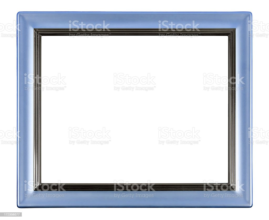 Blue Picture Frame royalty-free stock photo