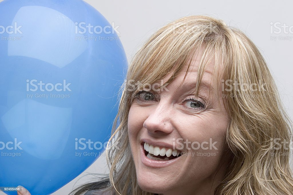 Blue stock photo