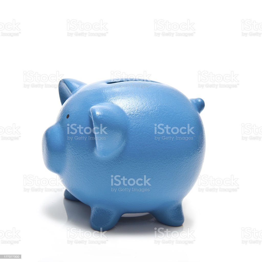 Blue Piggy bank or money box royalty-free stock photo