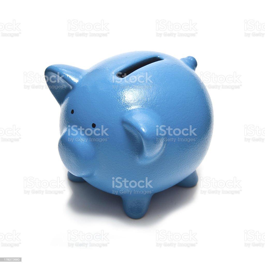 Blue Piggy bank or money box royalty-free stock photo