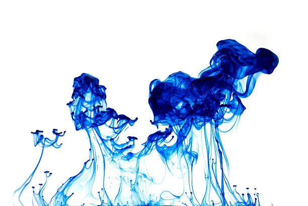 Blue Pigment Blue Pigment chemical reaction stock pictures, royalty-free photos & images