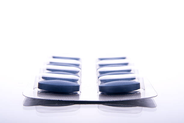 Comprimido azul - foto de stock