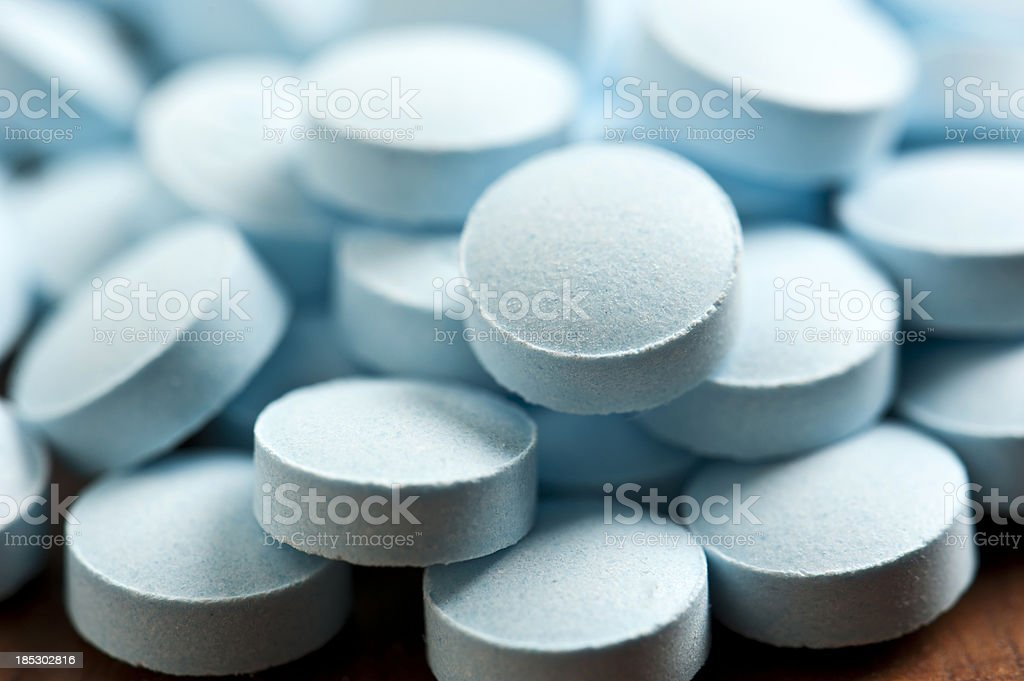 Blue Pills stock photo