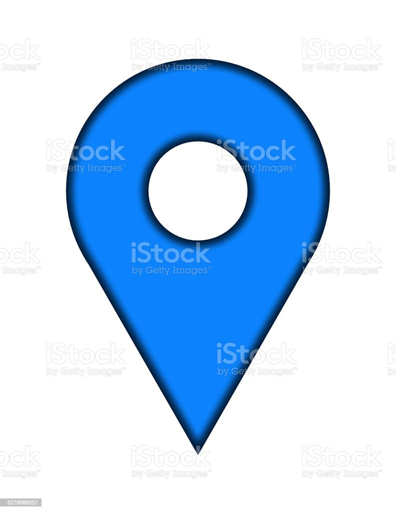 blue pin stock photo