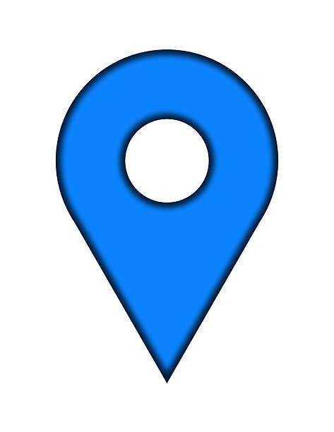 blue pin stock photo