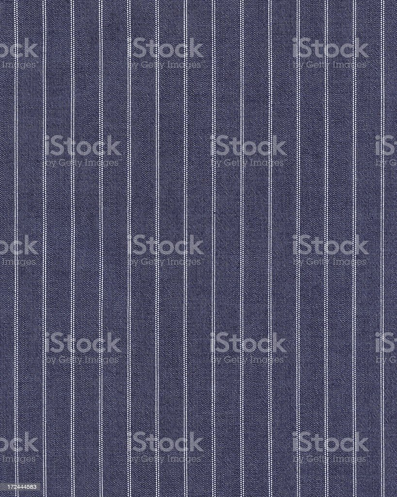 blue pinstripe cotton shirt material stock photo